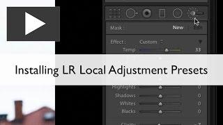 Installing Lightroom Local Adjustment Presets
