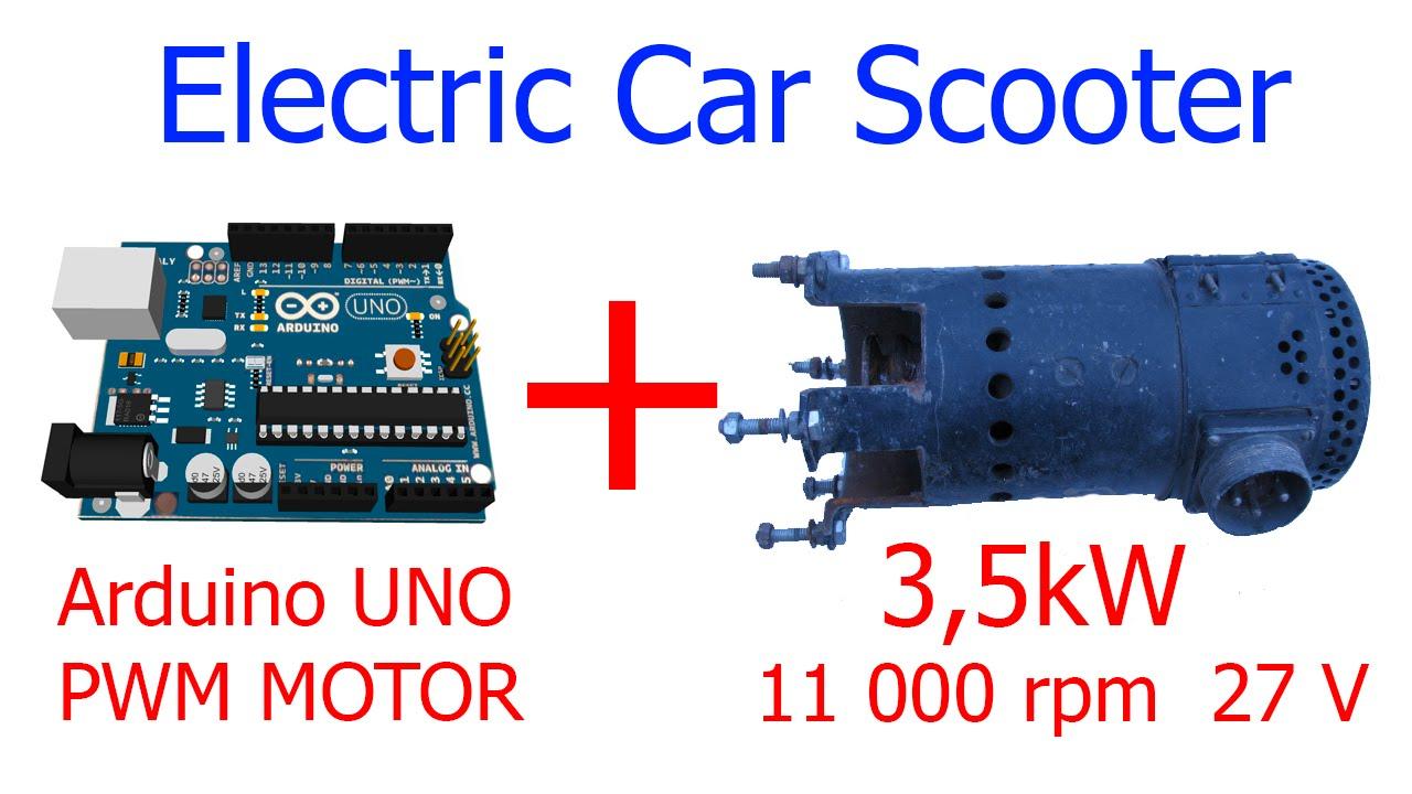 Arduino Uno Motor 3 5 Kw 11000 Rpm Pwm Electric Car
