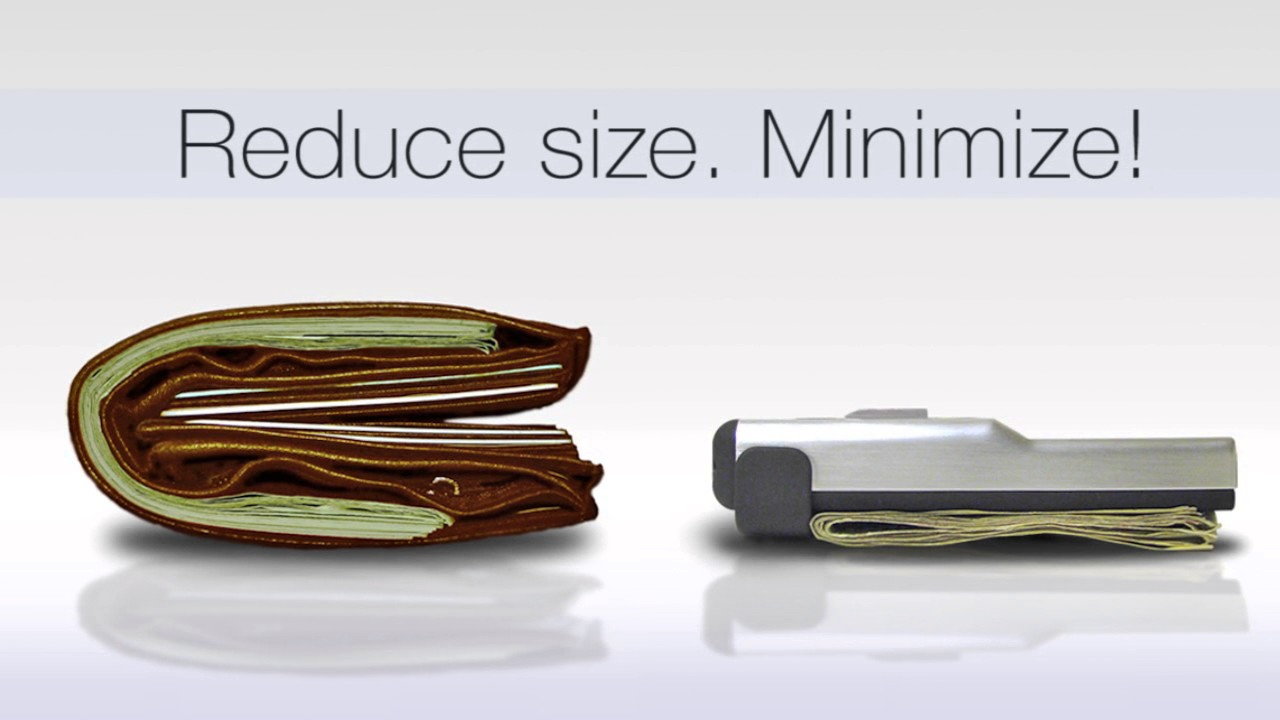 acm wallet credit card holder money clip minimalist front pocket wallet - Money Clip Card Holder