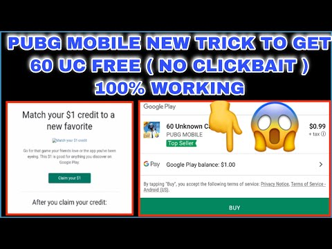 60 UC TRICK 2019 PUBG MOBILE GET FREE 1$ REWARD OFFER FROM GOOGLE PLAY IS  BACK AGAIN #karangaming