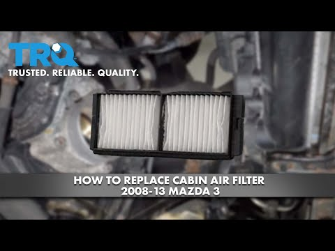 How To Replace Cabin Air Filter 2008-13 Mazda 3