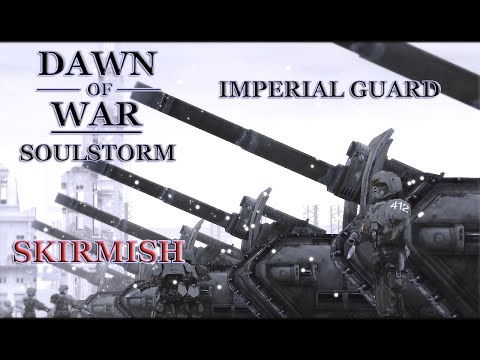 Dawn Of War - Soulstorm. Skirmish. 2 Imperial Guard VS 5 Necrons. (Insane)