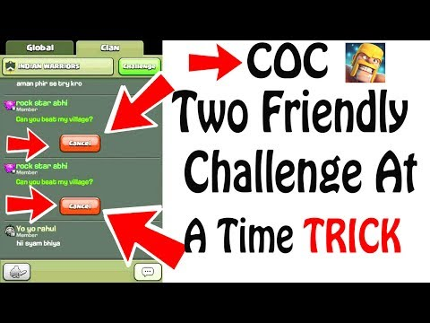 (HINDI) Clash Of Clans Two Friendly Challenge At A Time Secrets
