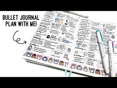 Bullet Journal Weekly Setup - Busy School & Work Week!   Archer & Olive