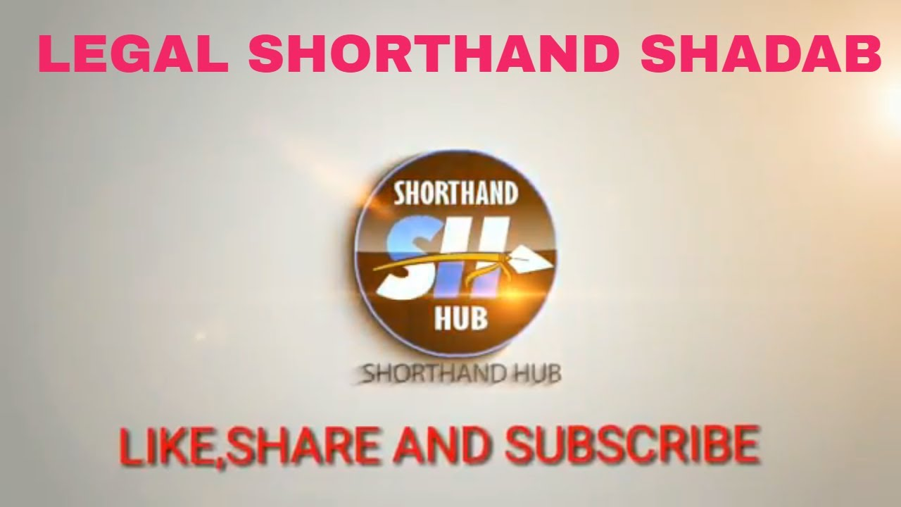 Legal Shorthand And General Matter Legal Shorthand Shadab Youtube