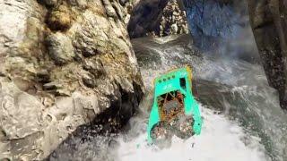 GTA 5 Trophy Truck Off Road Waterfall Climb Challenge Race