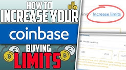 How to Increase Buying Limits on Coinbase? Coin base weekly buy limit?! - Crypto Currency Episode 1