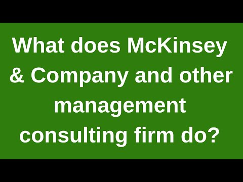 What Does McKinsey & Company Do?/Business Model,History Of Mckinsey & Company Hindi/urdu