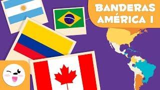 Las Banderas De América I Geografía Para Niños Youtube