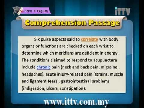 iTTV SPM Form 4 English Chapter 1 Health - Lesson 1 (Summary Writing I)- Tuition/Lesson/Exam/Tips