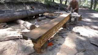 Milling logs with the Granberg Alaskan chainsaw mill - Tips and observations