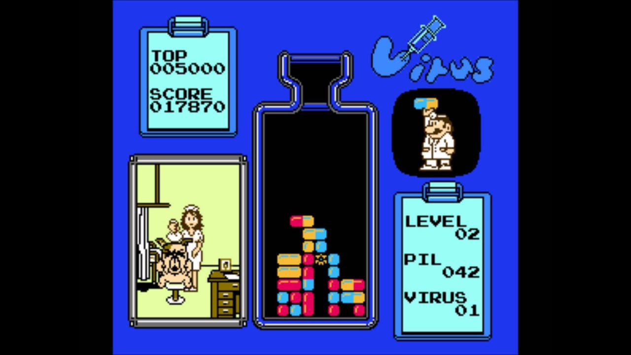 Virus Dr Mario Nes Prototypes Gameplay Master M