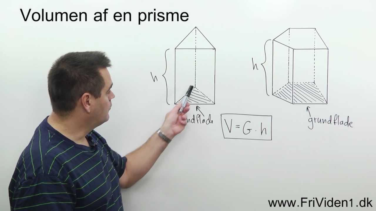 Volumen af en prisme