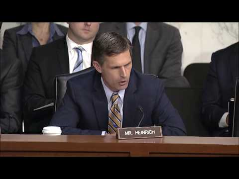 Heinrich Questions Acting FBI Director McCabe At Intelligence Hearing
