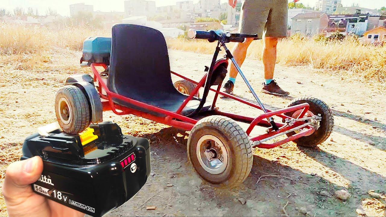 Kart Electrico con Baterias de Taladro ! (Por Poco Dinero)
