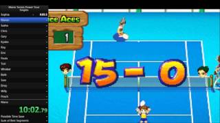 Mario Tennis Power Tour - Singles Speedrun in 1:10:37 [Current World Record]