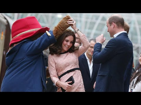 Download Youtube: Pregnant Kate Middleton Dances With Paddington Bear --- Despite Dealing With Acute Morning Sickne…