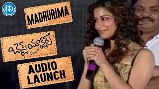 Madhurima Speech - Best Actors Movie Audio Launch | Nandu, Madhunandan, Kesha | J.B