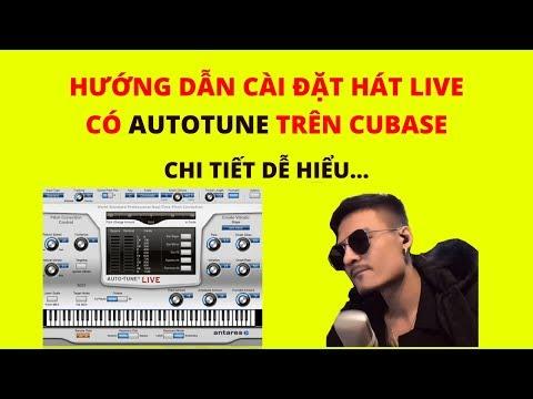 hướng dẫn cài đặt auto tune - Hướng dẫn cài đặt hát live cubase có AUTOTUNE trên k10, upod pro...   mic thu âm livestream tại nhà