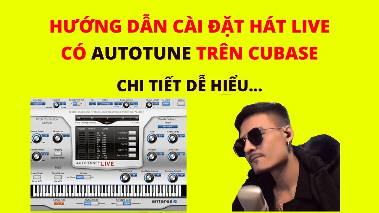 Hướng dẫn cài đặt hát live cubase có AUTOTUNE trên k10, upod pro… | mic thu âm livestream tại nhà