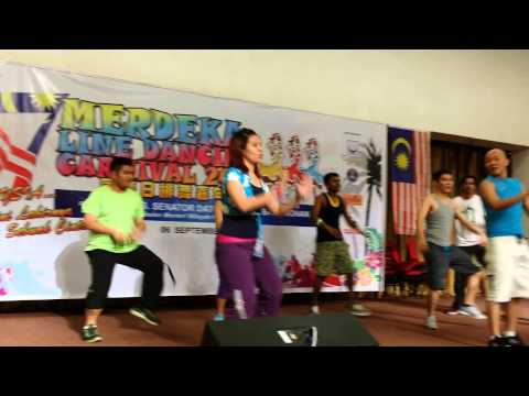 Fun with Zumba at the Malaysia Merdeka Line Dance