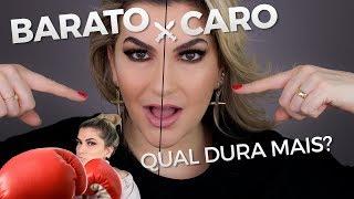 BATALHA CARO x BARATO: TESTE DE DURABILIDADE DE MAQUIAGEM | ALICE SALAZAR