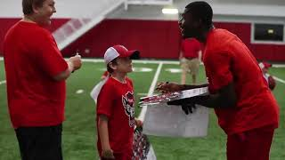 NC State football players raise money for rare disease research thumbnail