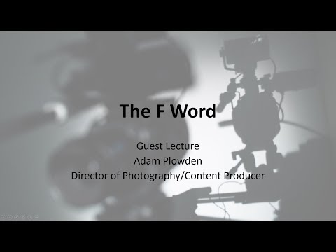 The F Word Kingston University Lecture October 2017