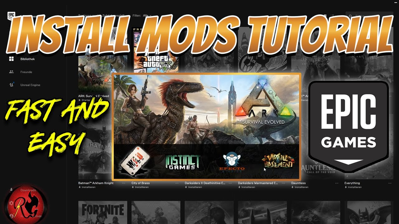 How to install Mods for Ark Survival Evolved on Epic Games ...