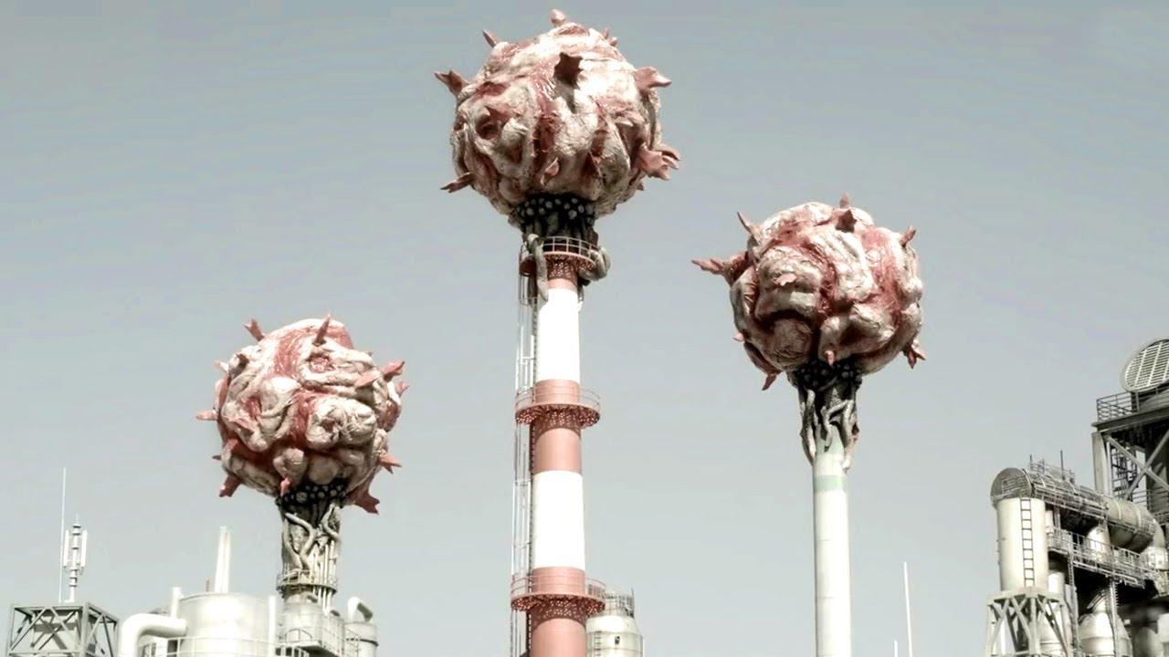 外星怪兽以废气为食,帮人类净化空气,可它们却突然被撑爆!