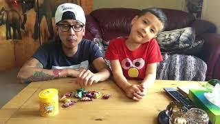 Yummys Zour Zapz Challenge vlog 13th of August 2018