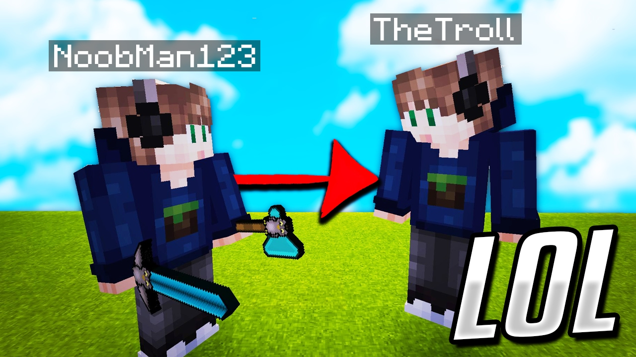 COPYING PLAYERS SKINS In Minecraft Minecraft TROLLING YouTube - Skins para minecraft pe de troll