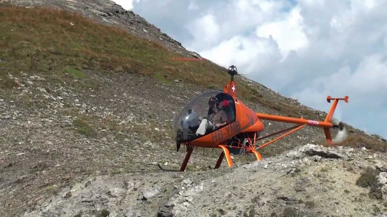 Elicottero Ch 7 : Helicopter ch kompress landing madrisahorn  m