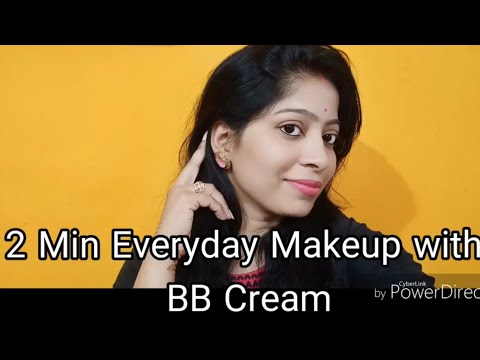 Simple Everyday Makeup Look with BB Cream | Makeup with 4 products only for girls | मेकअप ट्यूटोरियल