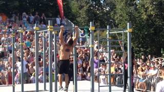Street workout world championship 2014 Dejan Stipic (Serbia) 2 round