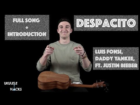 Despacito - Justin Bieber - Ukulele Tutorial [English + Spanish]