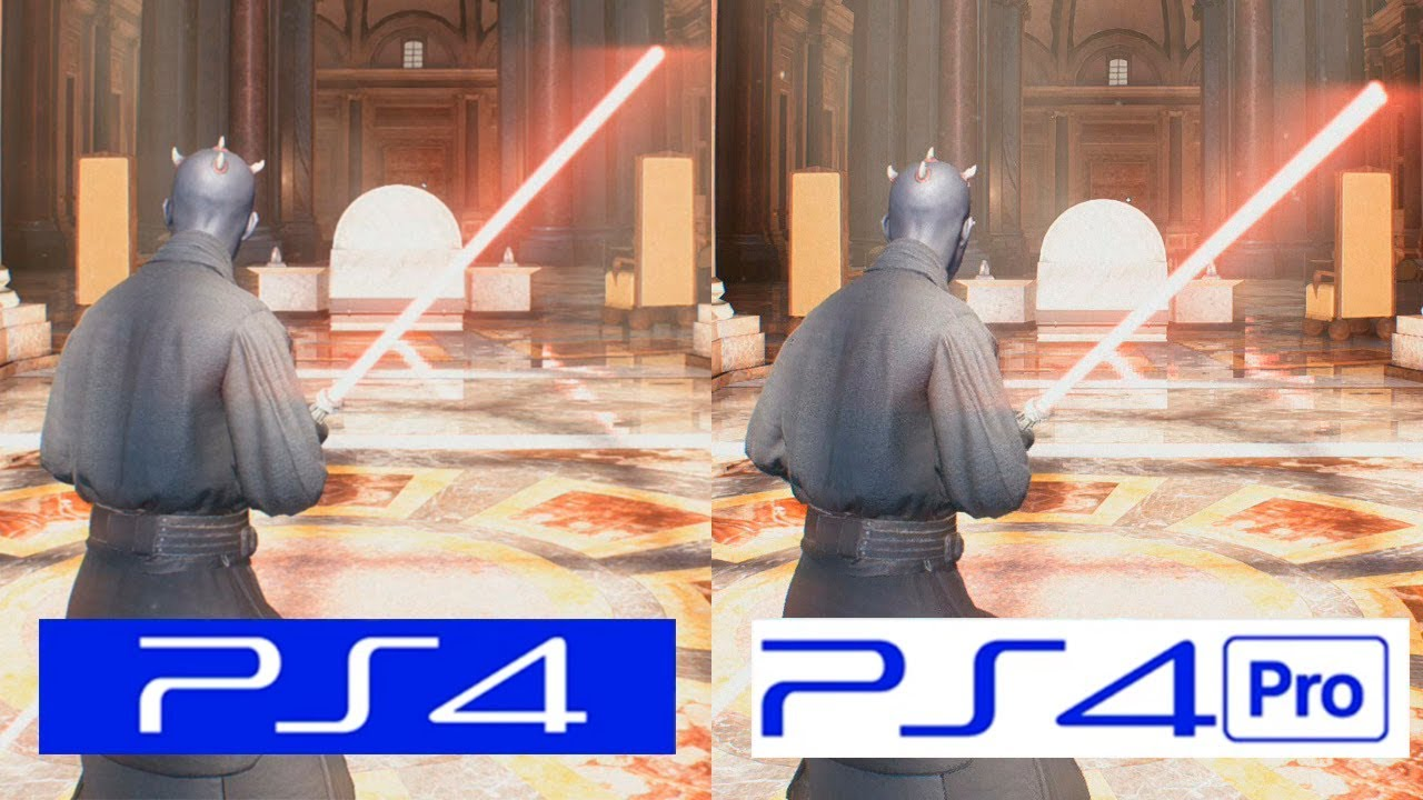 star wars battlefront 2 ps4 vs ps4 pro graphics comparison comparativa youtube. Black Bedroom Furniture Sets. Home Design Ideas