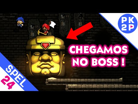 FINALMENTE! Chegamos no Boss! - Spelunky (feat. Muié) #24 - Multiplayer Local