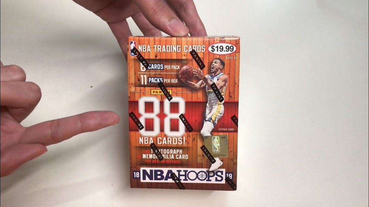7f3037f2a2a Panini 2018-19 NBA Hoops Basketball Cards Unboxing - YouTube