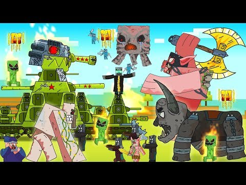 All series Iron monster KV-44 in Minecraft - Cartoons about tanks / Minecraft