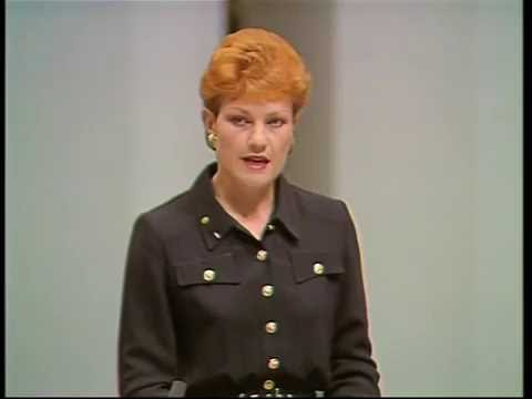 """I believe we are in danger of being swamped by Asians"": Pauline Hanson"