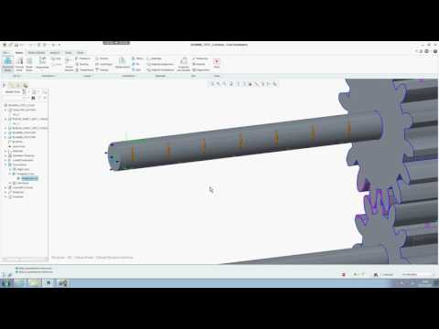 gearing transmission error using Creo 3 simulate