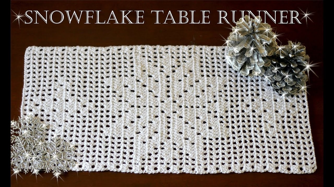 How To Crochet Snowflake Table Runner Part 2 Youtube