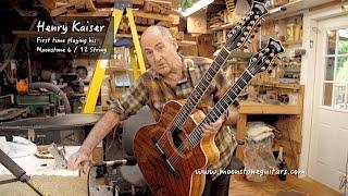 Henry Kaiser's Moonstone Acoustic Double-Neck 6 & 12 String Guitar
