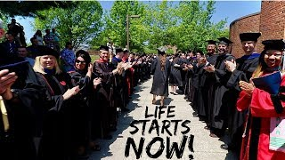 Take a behind the scenes look at what college graduation is like fo...