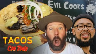 Bert Kreischer Cracks Up While Eating His Favorite Tacos | Tacos Con Todo