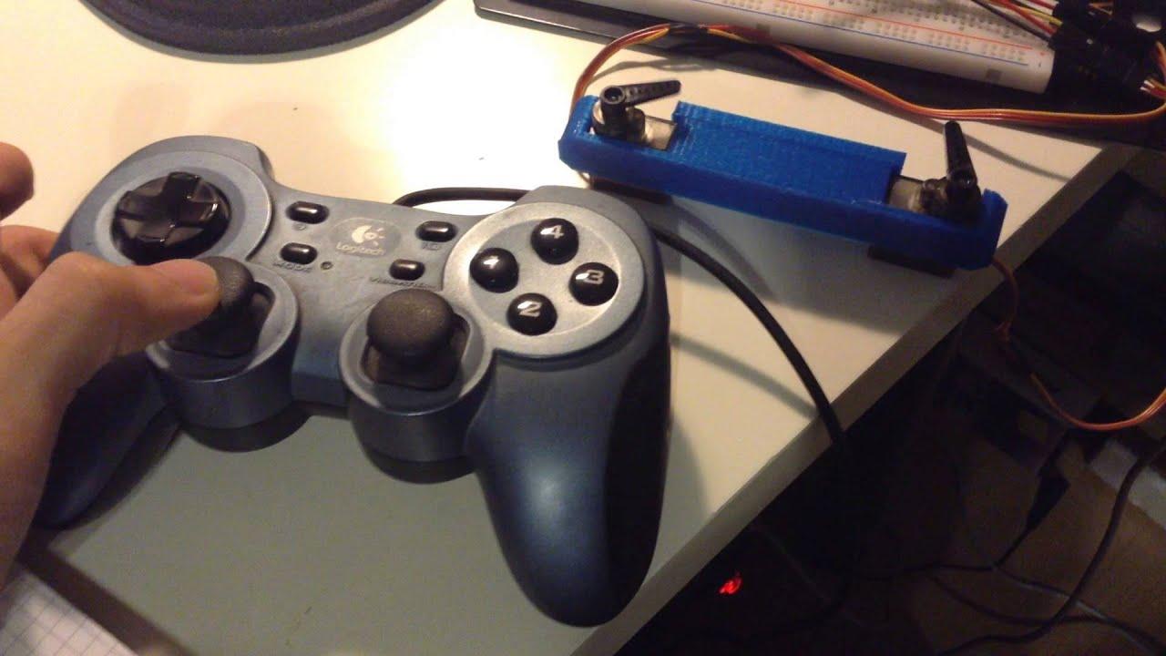 Arduino Servo Control using Gamepad with python and pygame