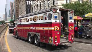 """COMPILATION OF FDNY RESCUES AND FDNY SQUAD COMPANIES """"ONLY"""" RESPONDING IN NEW YORK CITY.  04"""