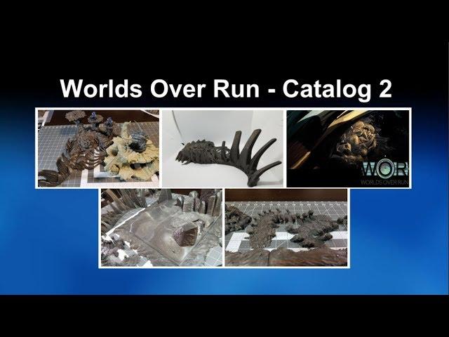 Kickstarter Showcase:  Worlds Over Run Catalog 2 -  3D Printable Tabletop Terrain for 28mm