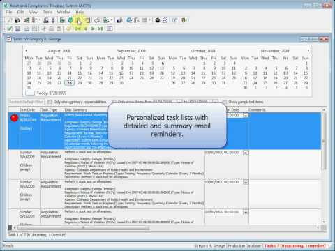 Asset and Compliance Tracking System (ACTS) Overview